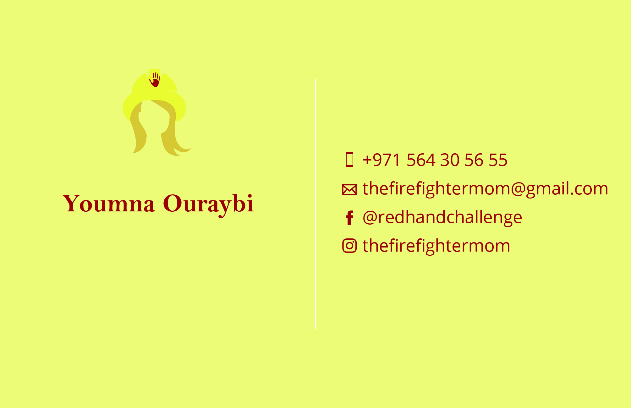 Business card The Fire Fighter Mom - Front
